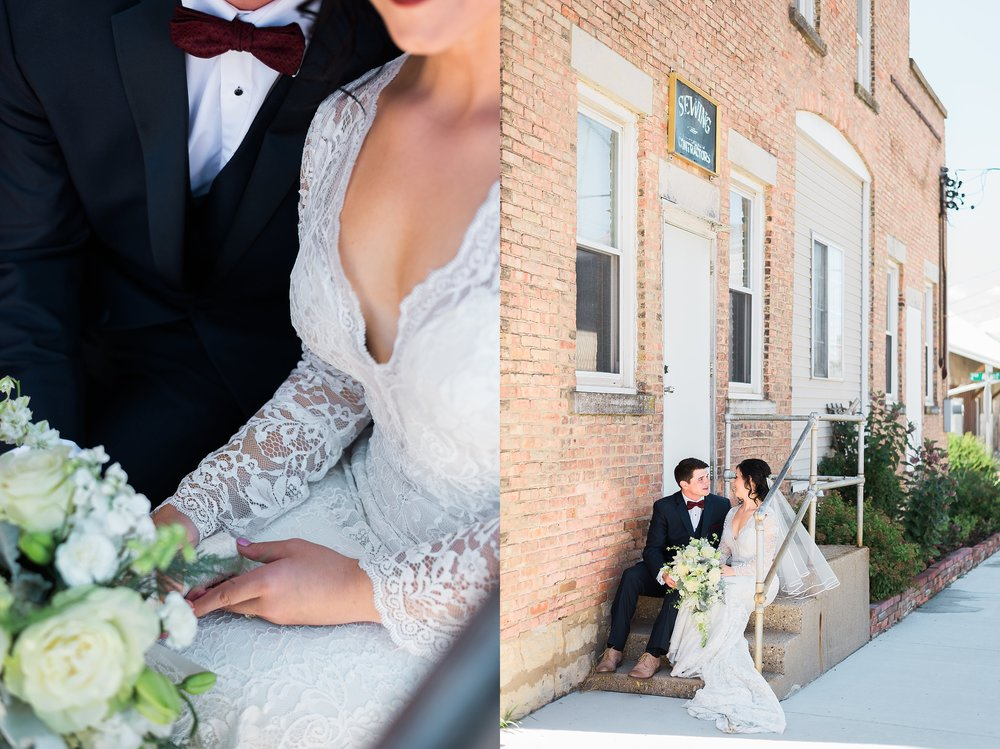 Downtown Dyersville Wedding photographer