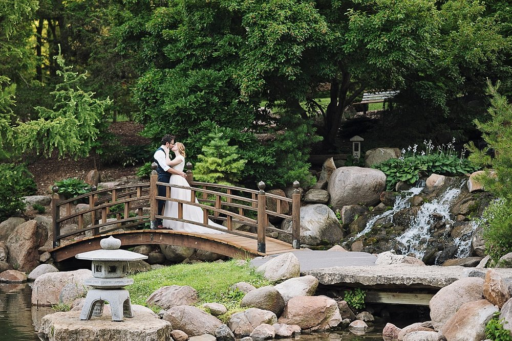 Dubuque Iowa Botanical Gardens Wedding Reception