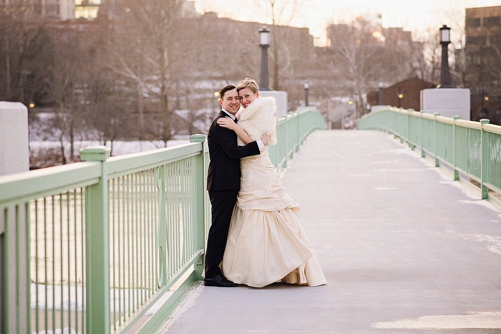 Downtown Iowa City Winter Wedding