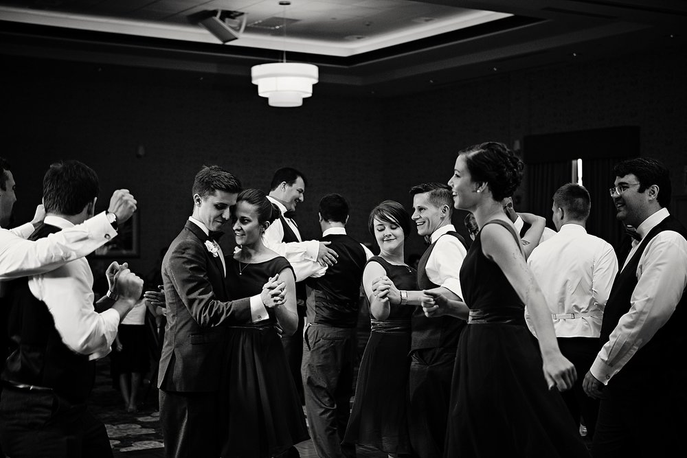 Cedar Falls Ballroom Hilton Wedding Photographer
