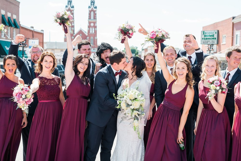 Downtown Wedding in Iowa Wedding Photographer