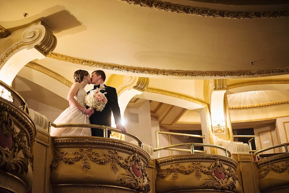 Dubuque Theatre wedding photographer