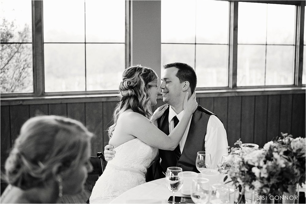 Wedding Ceremony outdoors at the Cedar Ridge Winery in Swisher, Iowa