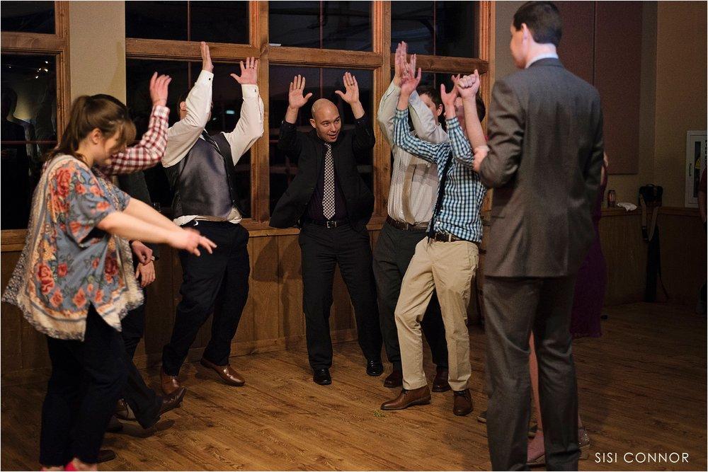 Wedding reception at the Cedar Ridge Winery in Swisher, Iowa