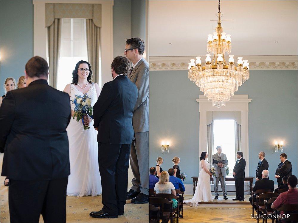 Old Capital Museum Senate Chamber Wedding in Iowa City