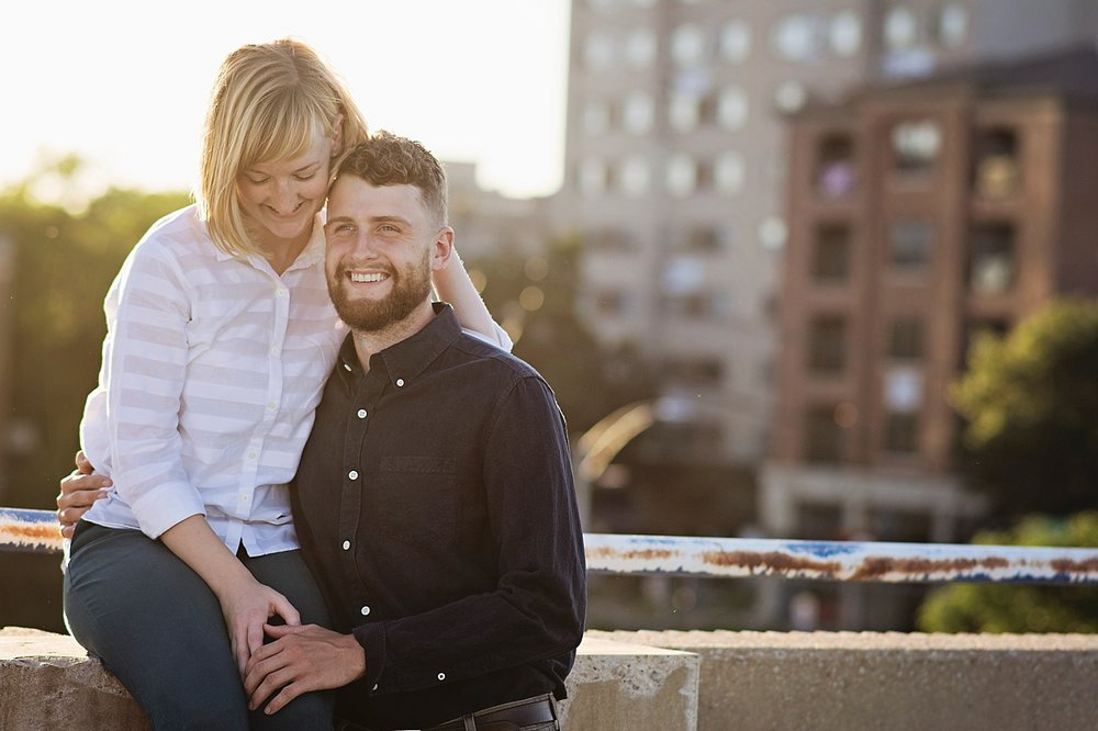 Downtown, Parking Ramp Engagement Session | Iowa City Wedding Photographer