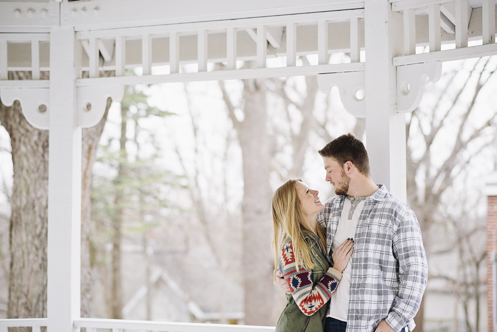 Downtown Mount Vernon Engagement Session | Iowa City Photographer
