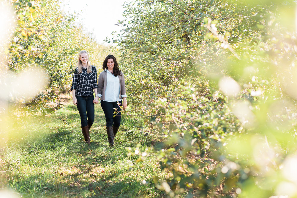 Wilson's Orchard Engagement Session | Iowa City Photographer