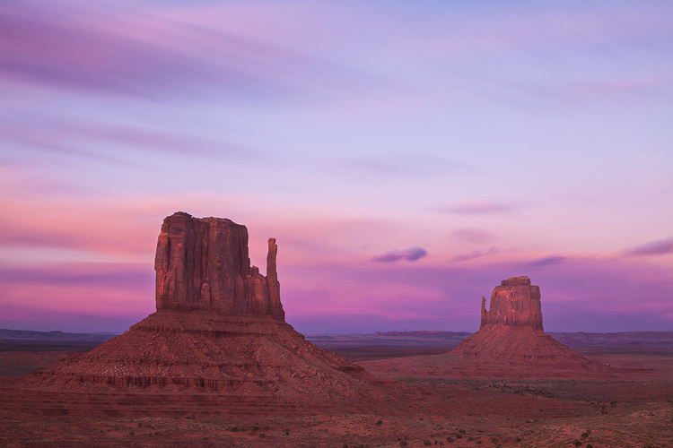 Monument Valley Mittens After Sunset