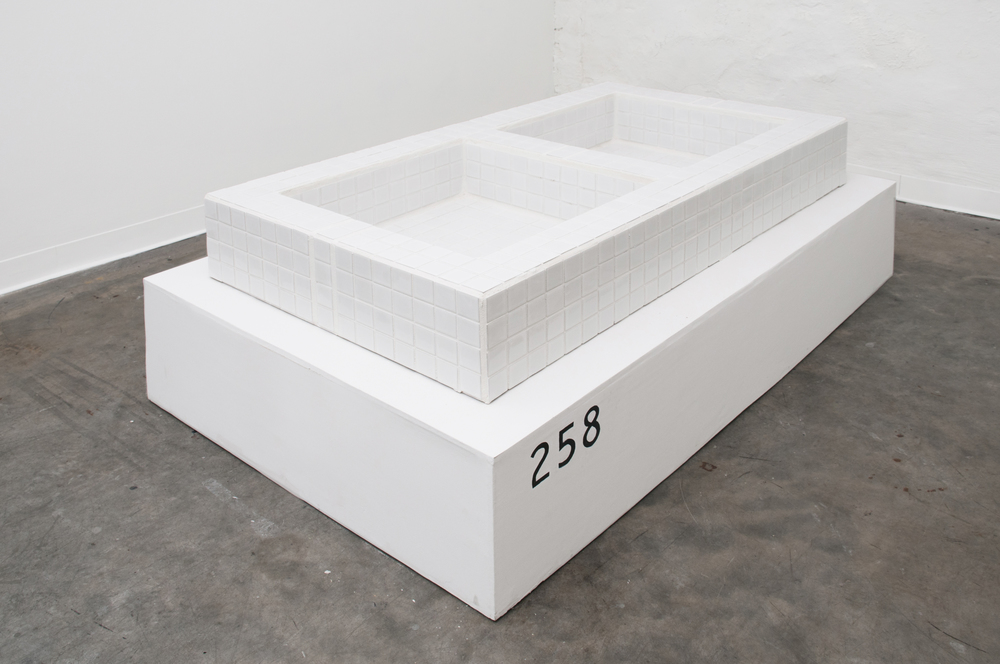 Masseuse Number 258 Ceramic Tile, Wood, Cement  30 x 56 x 8 Inches  2014