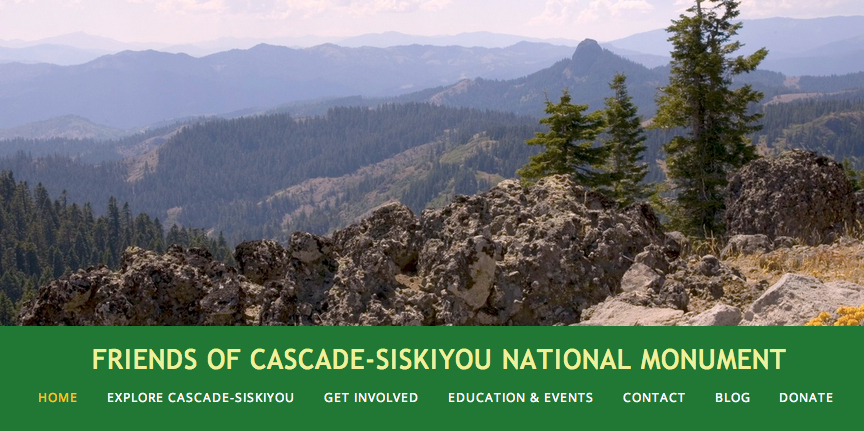 Web Page Home 2013: Friends of Cascade-Siskiyou National Monument