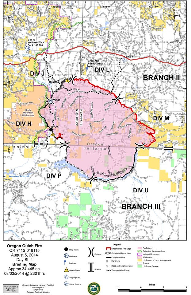 Oregon Gulch Fire. Maps are uploaded at  Inci website.