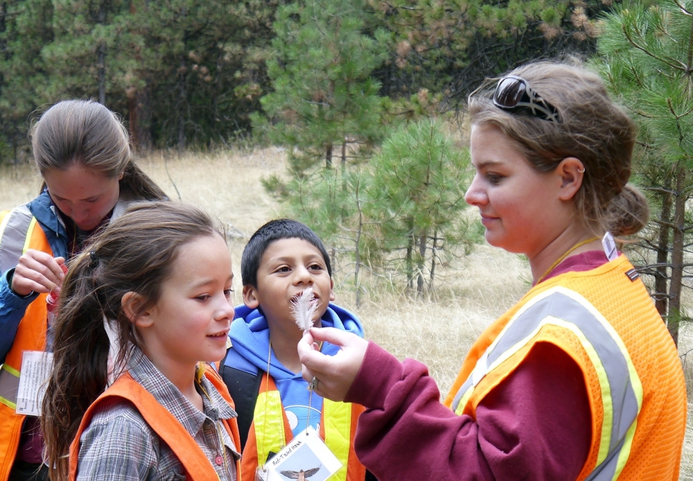 Students at Cascade Siskiyou National Monument with SOU Fall In the field leaders.
