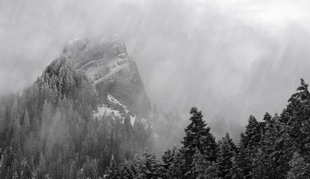 Pilot Rock In Winter. 2015 Photo © MATT Witt