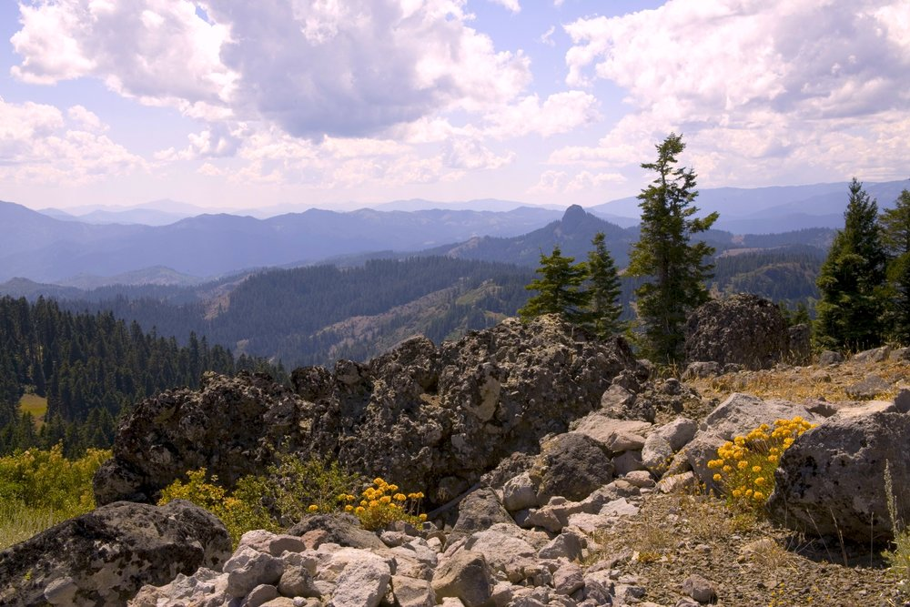 Pilot Rock, Cascade-Siskiyou National Monument. The only monument designated for its biodiversity, established in 2000. Monument boundaries were expanded in 2017.