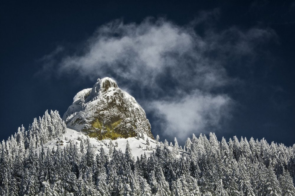 Pilot Rock in Deep Winter © Matt Witt