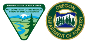 BLM & OR Dept of Foresty Logos