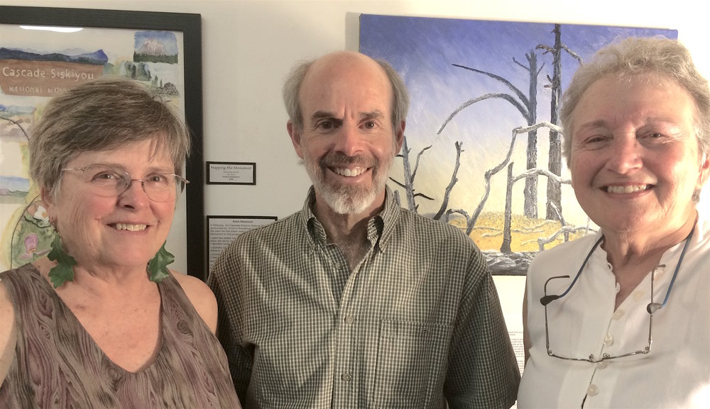 Mabrie Ormes, Matt Witt, and Darlene Southworth at Ashland Art Center, 2017.  WWC Photo
