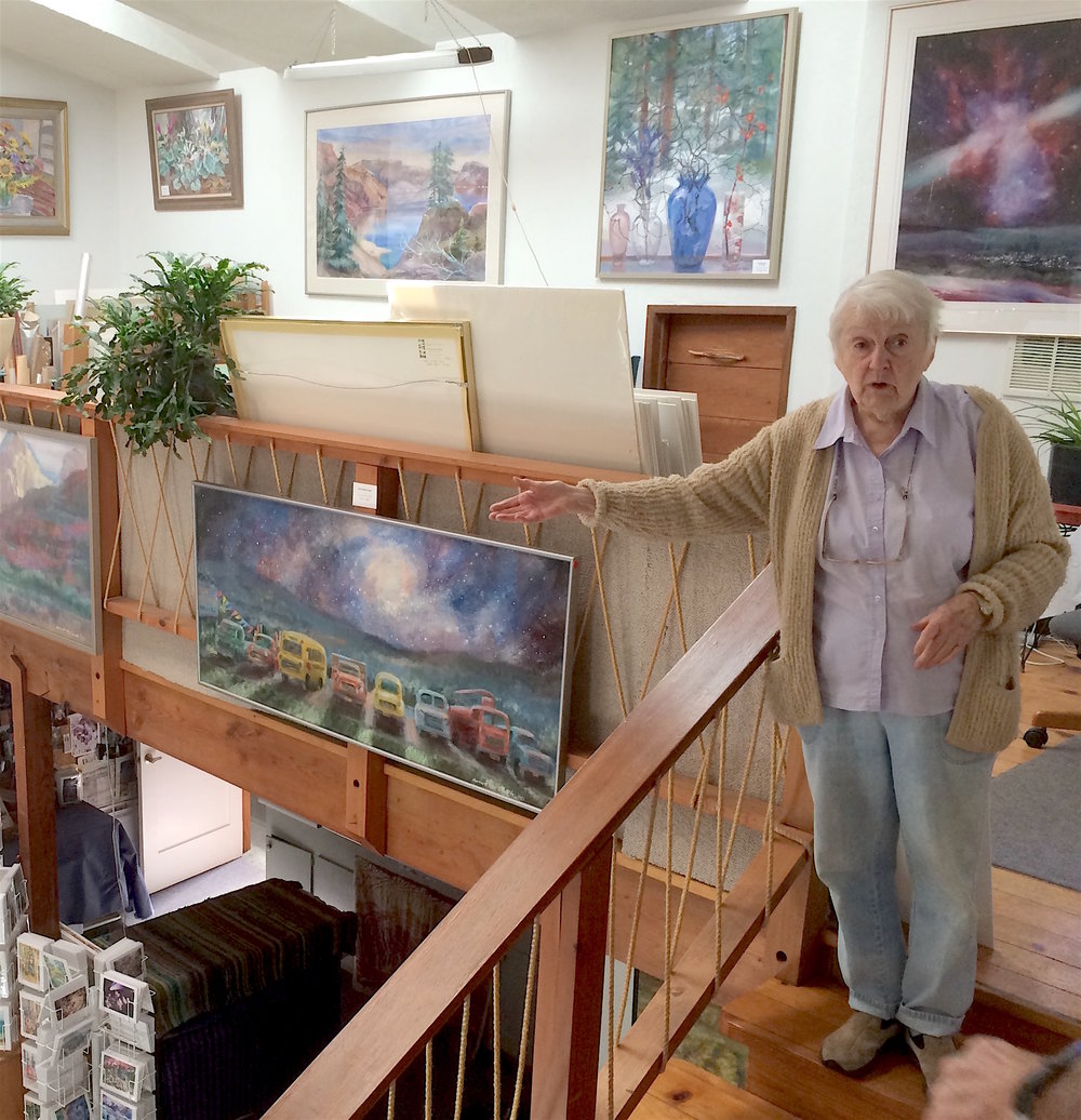 Harriet in her studio, 2014.  WWC photo