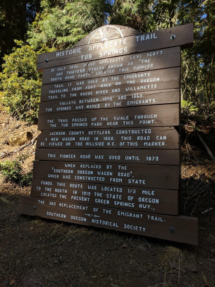 Historic Applegate Trail marker