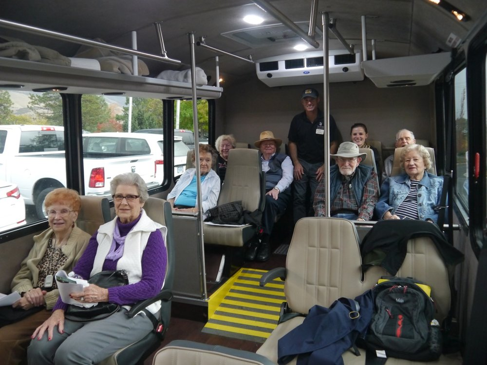 Bus tour participants