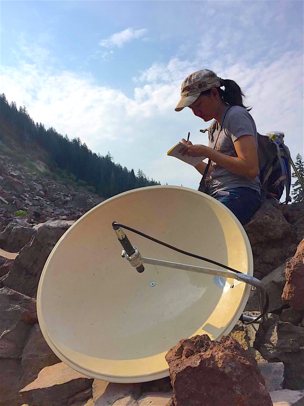 Collecting data of a pika population