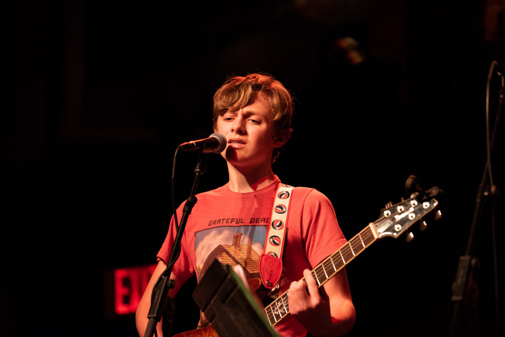 PGS Student Performing with his band, The Sweatshirts