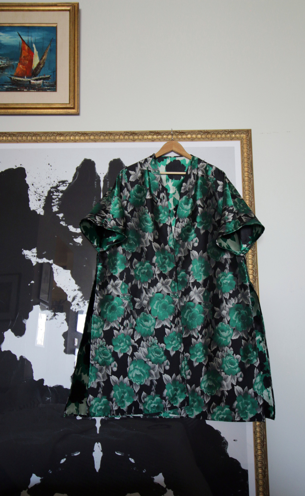 Kimono-Sleeve Opera Jacket.