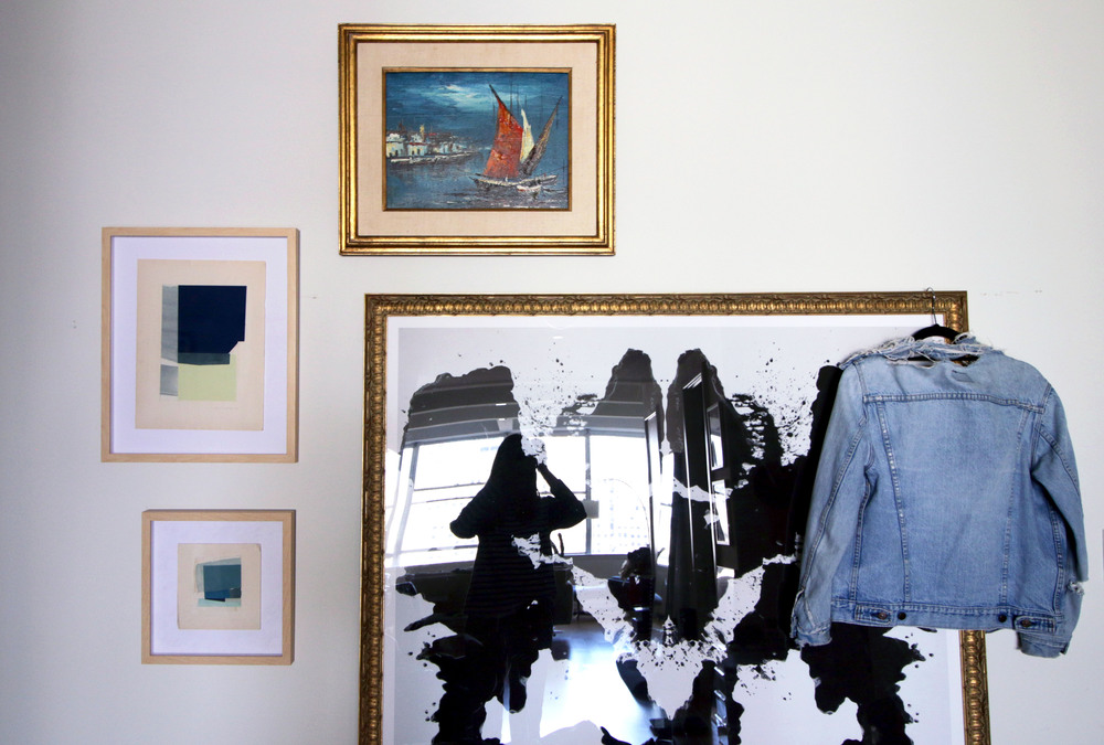 Vintage Levi's denim jacket found on   Etsy  . Artwork pictured left by   Claire Oswalt  .