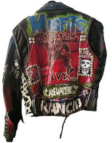 Custom punk leather jacket,  1980.