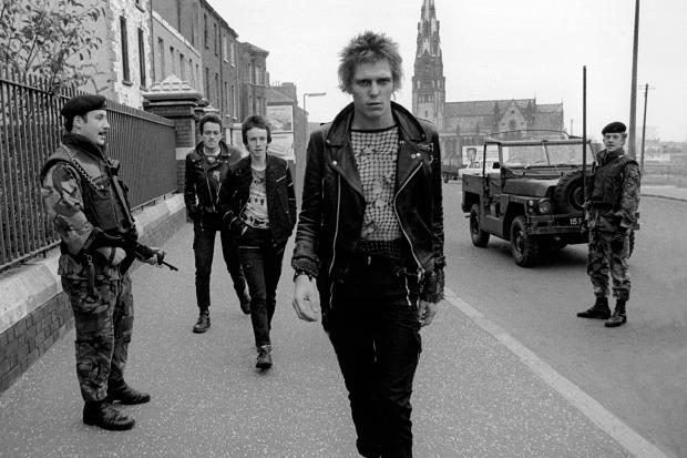 The Clash   pictured in Northern Ireland,  1980s.