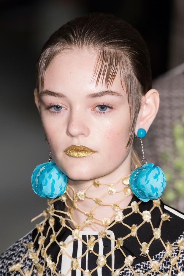 Sequin Ball Drop Earring, Prada