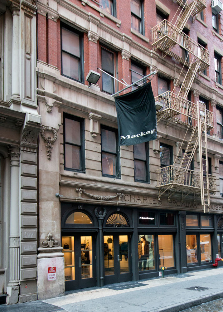 Mackage's Soho New York Store.
