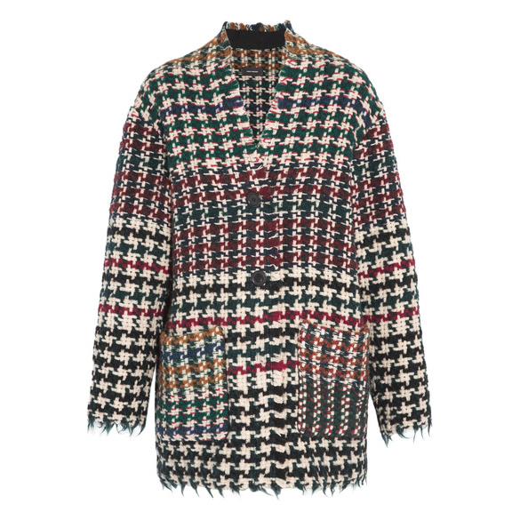 Isabel Marant  Diana Houndstooth Tweed Coat