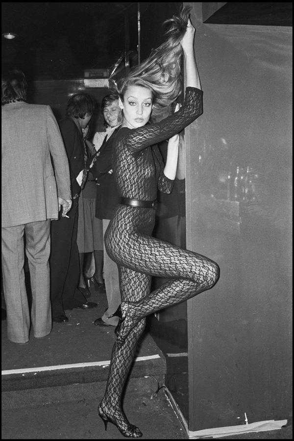 Jerry Hall at Studio 54, 1970.  Photo: Getty Images.
