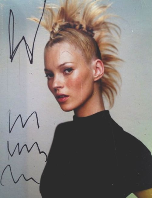Kate Moss by Mario Testino in a rejected cover for W magazine, 2000.
