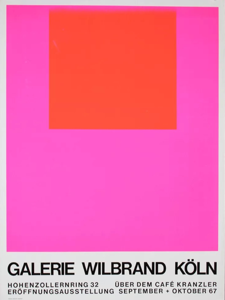 Vintage Galerie Wilbrand Koln poster, 1967.