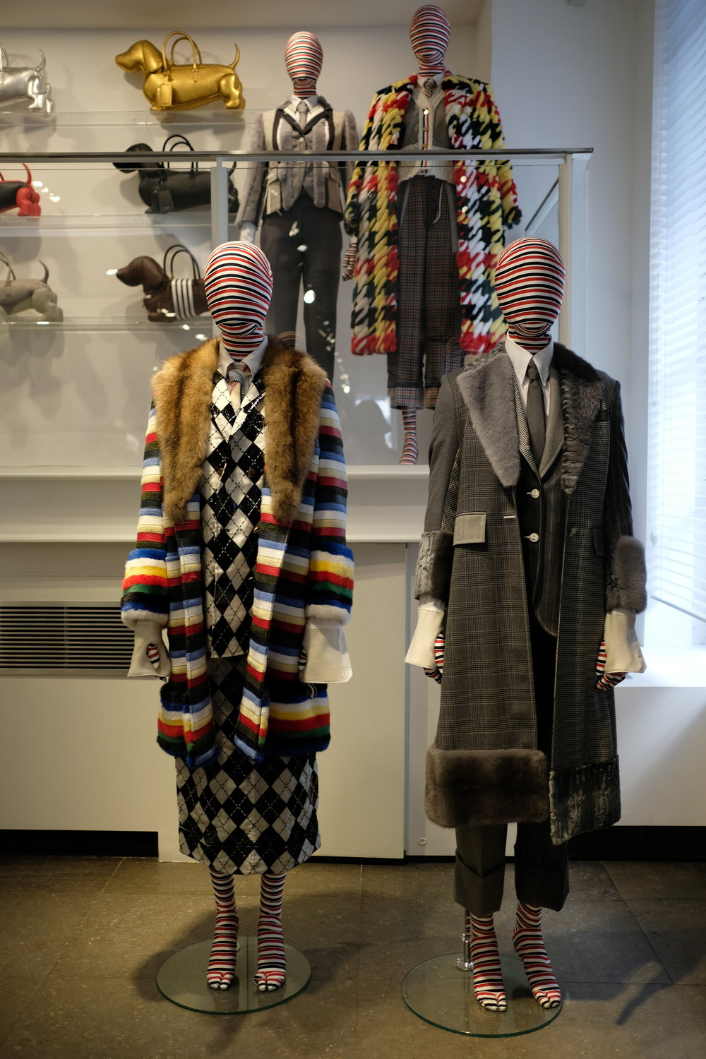 Thom Browne takeover on Colette's second floor.