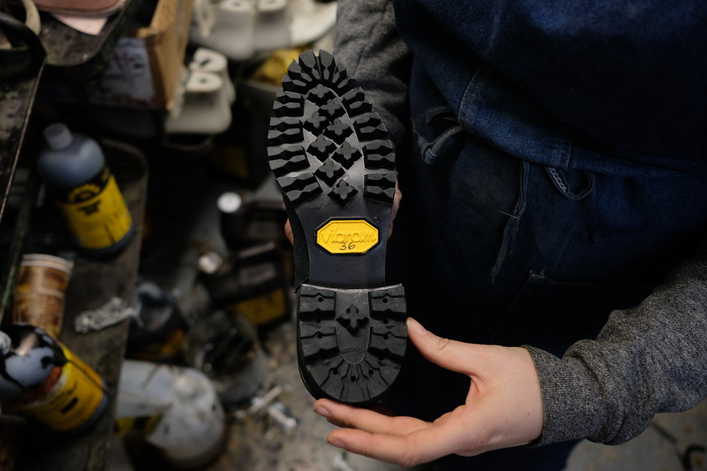 Leslie uses a Vibram sole on her collection for added quality and performance.
