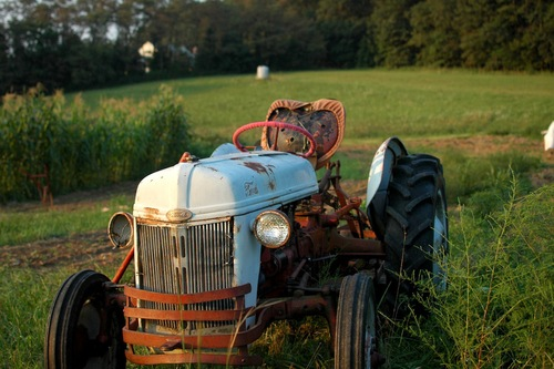 The tractor.