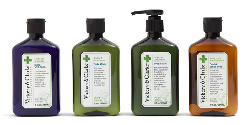 Vickery & Clarke haircare and skin products developed for CVS/pharmacy.