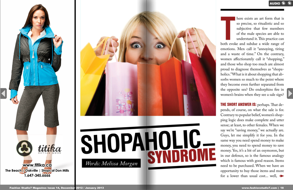 Fashion Studio 7 Magazine, Issue 14:  Psychology/Lifestyle Article