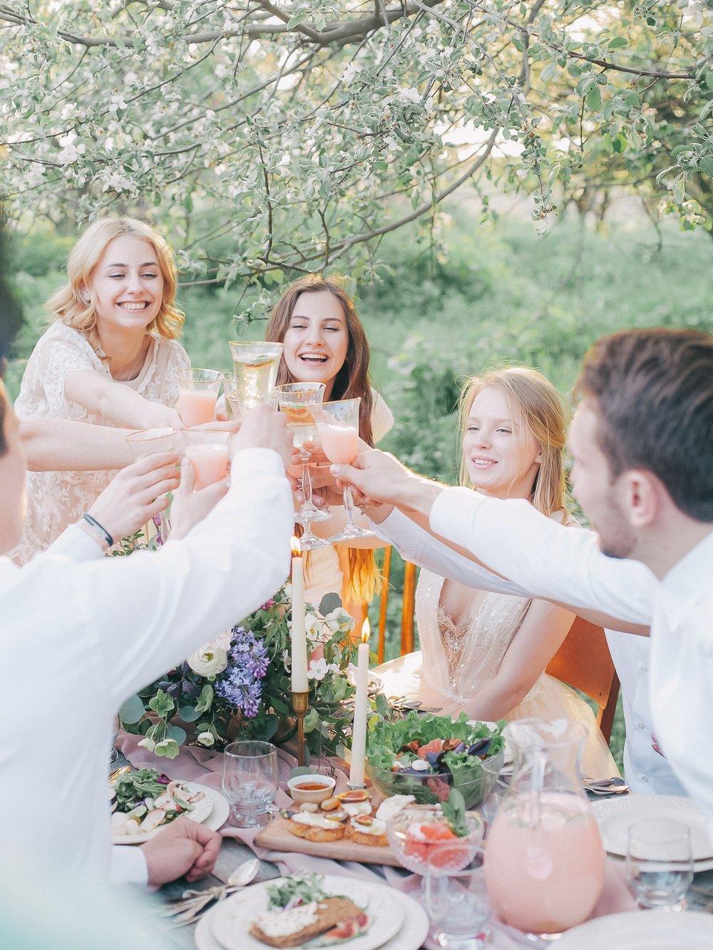 bridesmaid cheers wedding events healthy