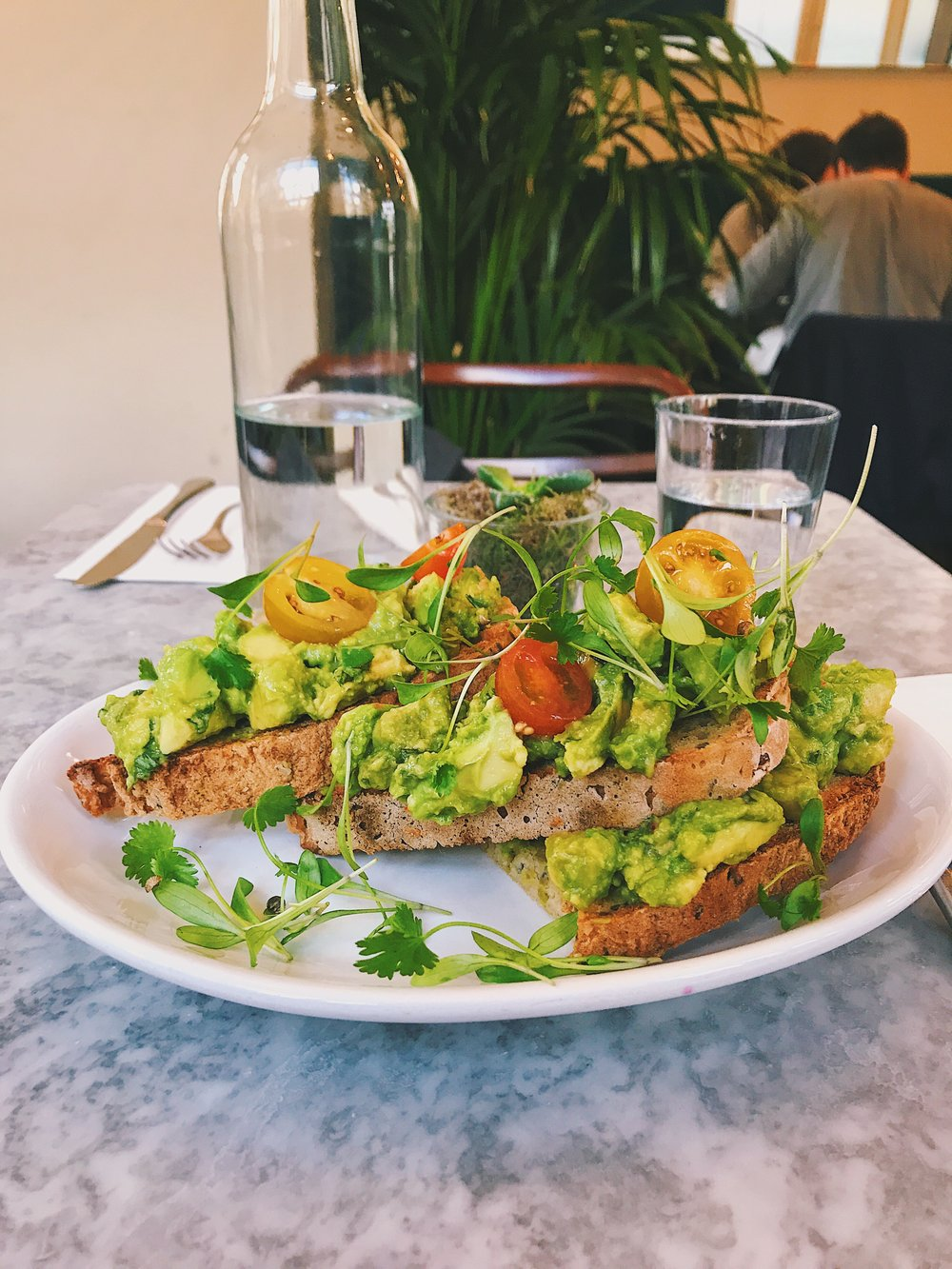 GF, Vegan Avo Toast at Redemption.