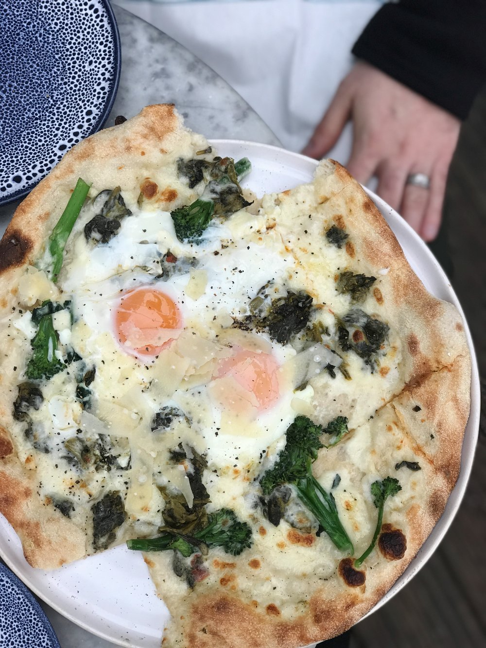 Coppa Club Pizza with Egg