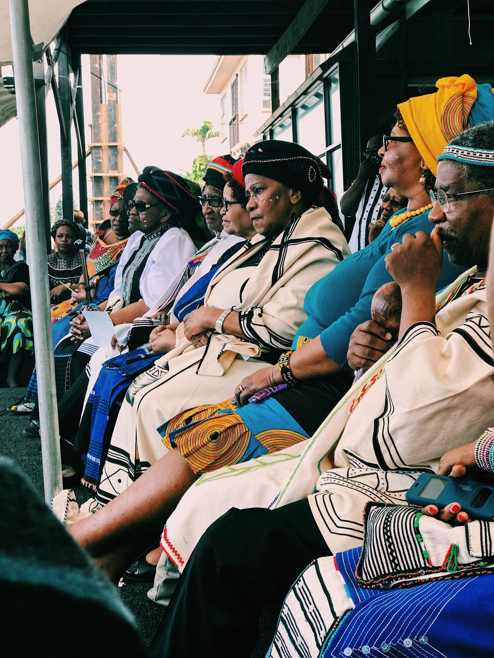 The elders had a front row view of the festivities.