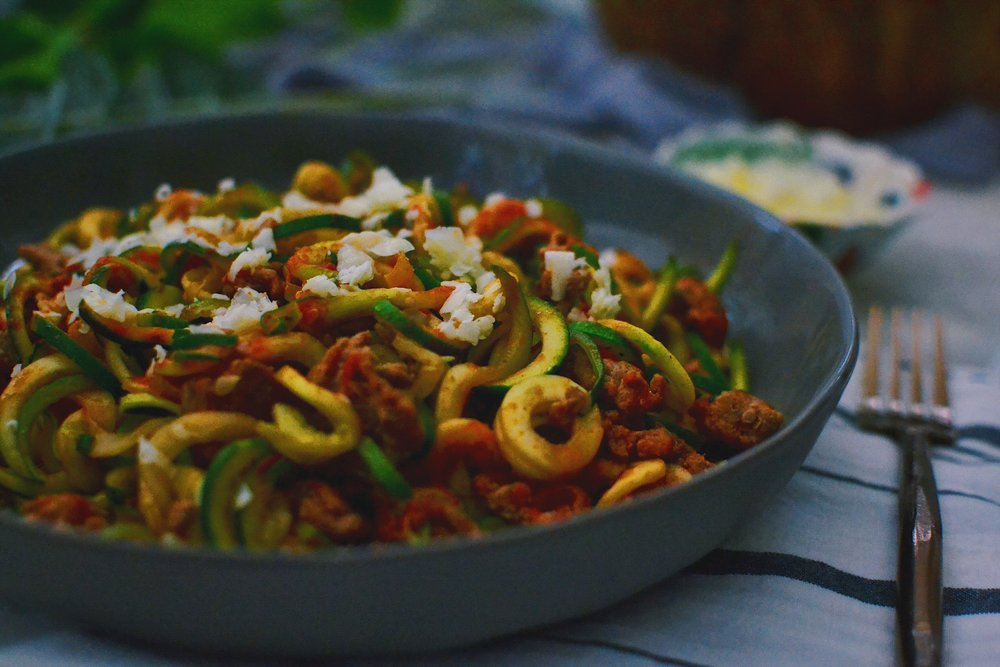 spicy taco zoodles healthy recipes shredding for the wedding