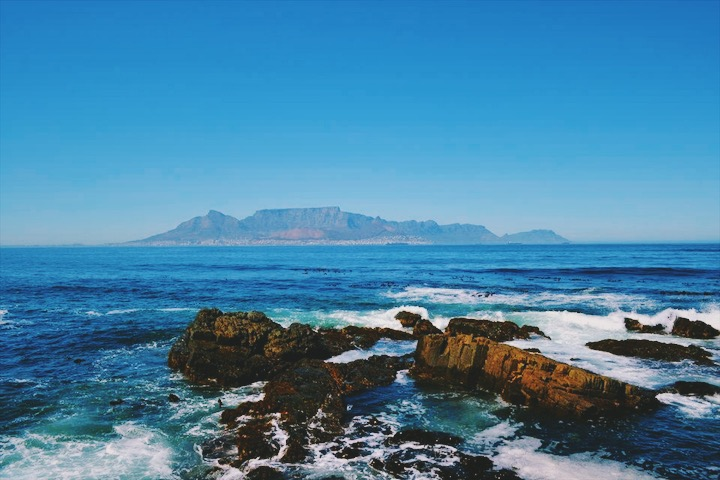 View of the mainland from Robben Island.