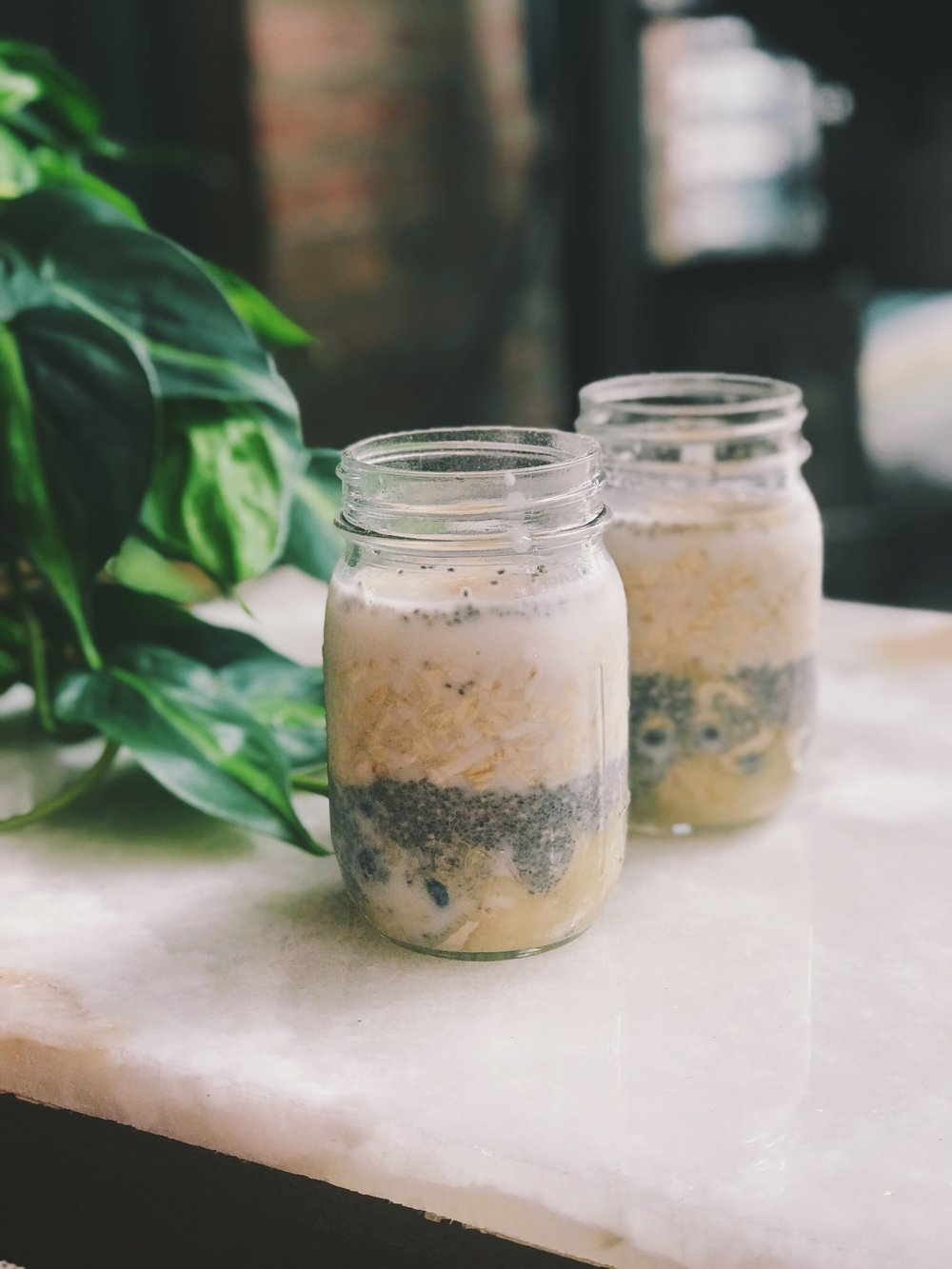 blueberry banana overnight chia oats shed for the wed healthy recipes
