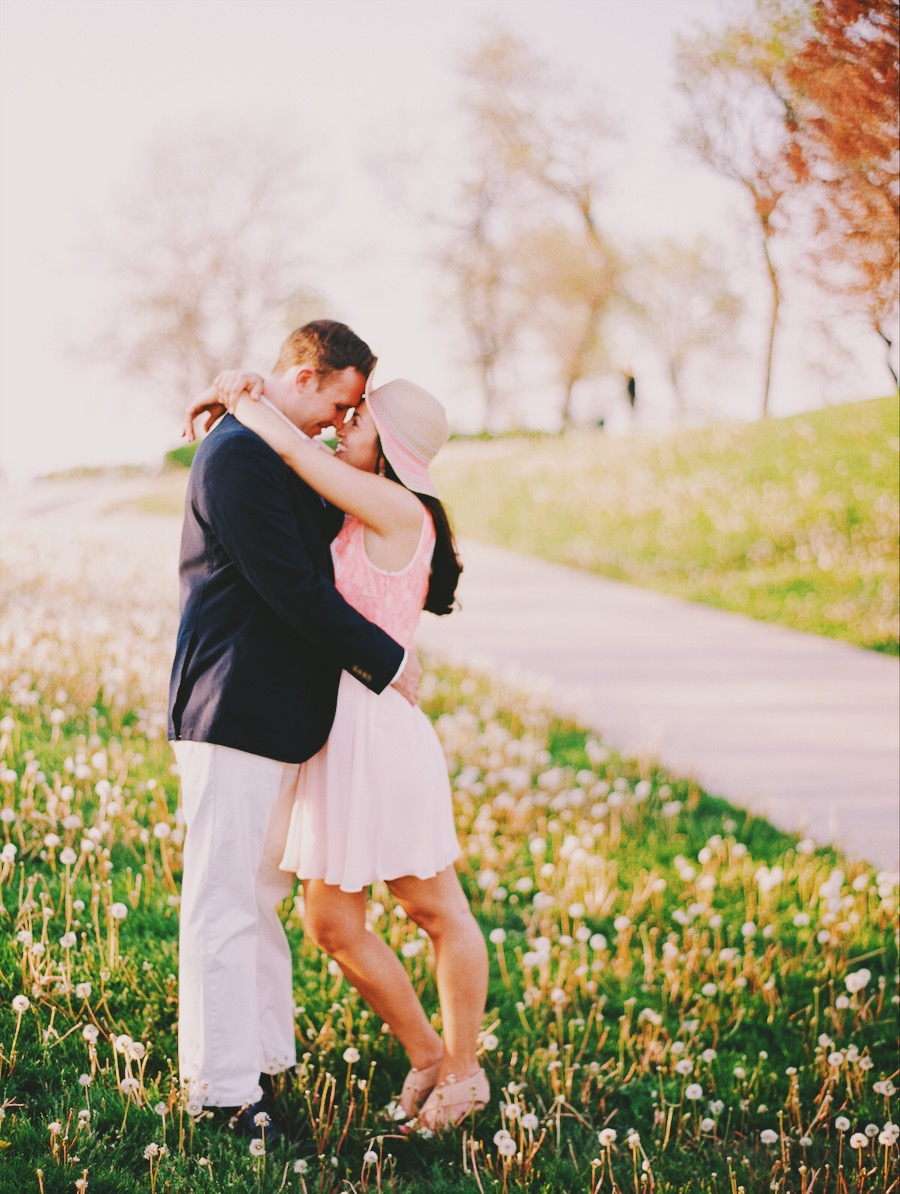 The pictures from our 2013 phones are really not great quality. So this is from our engagement session the following Spring. Photo by Kristin LaVoie Photography